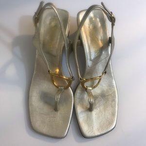 vintage yves saint laurent thong sandals SZ 6.5M